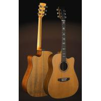 Wholesale 41inch OEM TOP solidwood vintage cutaway electric acoustic guitar/western guitar steel string sale-TP-AG57 from china suppliers
