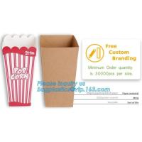 Buy cheap Quality-assured Professional Made Striped Popcorn Boxes,offset printing or flexo printing popcorn bucket/paper box pack from wholesalers