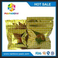 Buy cheap Gold Shinny Mini Foil Pouch Packaging / Hermetically Sealed Aluminium Ziplock Bags from wholesalers