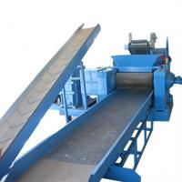 Wholesale PLC Tyre Crushing Machine Tire Recycling Plant For Rubber Strips from china suppliers