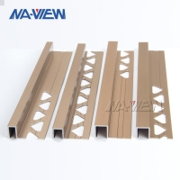 Buy cheap Aluminium Metal Brushed Brass White Gold Square Capping Box Edge Tile Trim Corners On Walls from wholesalers