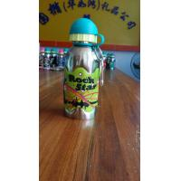 Buy cheap 400ml single wall stainless steel water bottle with silicone gripper from wholesalers