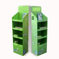 Buy cheap Pop Floor Corrugated Cardboard Display Stands Embossing Or Glossy Lamination from wholesalers