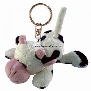 China Promotional Stuffed Cow Plush Keychain on sale