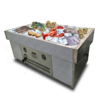 Buy cheap Commercial Stainless Steel R404a Supermarket Island Freezer from wholesalers
