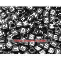 "Buy cheap Random Mixed Black Color Alphabet /Letter ""A-Z"" Acrylic Cube Beads 6x6mm from wholesalers"