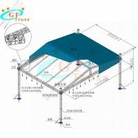 Buy cheap Lighting Aluminum Truss Roof Systems Ground Supports 12M Height from wholesalers