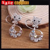 Buy cheap Hello Kitty Cat Brooches Women Wedding Broach,Noble Gold Brooch Bouquet Animal Broches from wholesalers