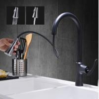 Buy cheap Antique Kitchen Tap Black Bronze Brass Pull Out Kitchen Sink Tap T0459P from wholesalers
