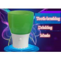 China Educational Kids Toothbrush Cup Colorful Music Cup Drinking Glass With LED Light on sale