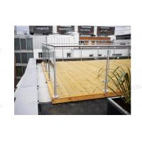 Factory Balcony Stainless Steel Post Glass Panel Railing is On Hot Selling!