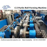 Buy cheap Hydraulic C Z Purlin Metal Forming Equipment 380V 50HZ 5 Phrase from wholesalers