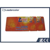 China Two Parts Snap off Plastic Hotel Key Cards with RFID 125KHZ Tag on sale
