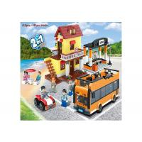 Quality Multi Color Building Blocks Educational Toys Lego Style Bus Station 410Pcs for sale
