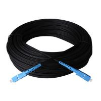 Buy cheap Outdoor Single Mode Fiber Optic Patch Cord Black G657A1 Ftth Drop Cable from wholesalers