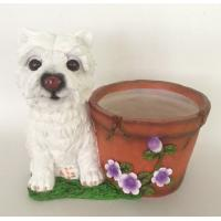Buy cheap resin dog pot from wholesalers