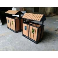 Buy cheap Outdoor Playground Equipments Imitative Wood Garbage Double Dustbin from wholesalers