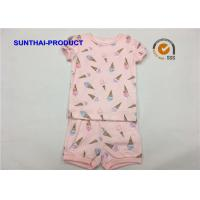 Buy cheap Ice Cream Printed Baby Clothes Sets , Toddler Girl Summer Sets OEM / ODM Available from wholesalers