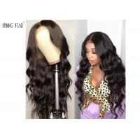Buy cheap Pre Plucked Body Wave Lace Front Wigs Brazilian Hair 13 X 4 Big Closure from wholesalers