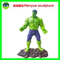 Buy cheap life size fiberglass   movie marvel character hulk statue as decoration in park or hall center from wholesalers