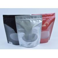 Buy cheap Tea / Coffee Beans Stand Up Aluminum Foil Packaging Bags With Clear Window from wholesalers