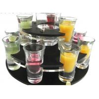 Buy cheap Contemporary Acrylic Rotating Shot Glass Display Stand / Acrylic Wine Glass Holder Tray from wholesalers