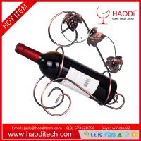 Buy cheap Wine Bottle Holder Kitchen Decoration Display Metal Mounted Stand Handmade Rack from wholesalers