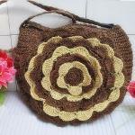 Buy cheap 22303 flower straw bag, paper string bag, shoulder straw bag, crochet straw bag from wholesalers