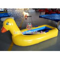 Yellow Duck Inflatable Water Toys PVC Water Amusement Floating Boats Manufactures