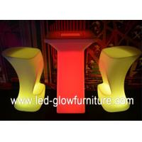 Buy cheap Modern Glowing LED Bar Chair / Stools , Polyethylene plastic illuminated cocktail table from wholesalers