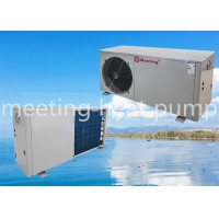 Buy cheap 2P Energy Saving Air Source Heat Pump Unit Low Temperature Air Pump Air Conditioning White Spraying Sheet Metal from wholesalers