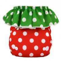 Buy cheap Super Cute One Size Strawberry Pocket Diapers with 1pc microfiber Insert from wholesalers
