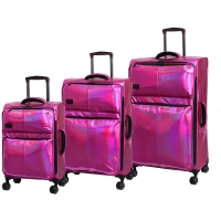 Wholesale Expandable Spinner Wheels Holographic Soft Trolley Luggage from china suppliers