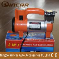 China Single Cylinder Tire Inflator Air Compressor / Portable Air Pump For Car on sale