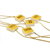 Buy cheap Clothing Plastic Seal Tag Locking Fasteners Yellow Square Shape For Dress Scarf from wholesalers