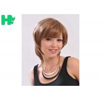 Comfortable Synthetic Hair Wigs With Comb Easily , Cuticle Aligned Correct Manufactures