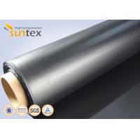 Buy cheap Air Condition System Chemical Resistant Fabric For Flexible Duct Connector Neoprene Black Fiberglass Fabric from wholesalers