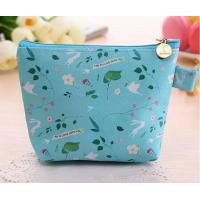 Portable Polyester Foldable Storage Box , Blue Nylon Travel Cosmetic Bags