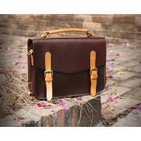 Buy cheap LH-62-3 Handmade Handbags Vintage Briefcase Genuine Leather Ladies Bags from wholesalers