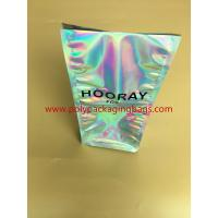 Wholesale Fruit And Snack Storage Stand Up Foil Ziplock Bags Sliver Laser Film Hologram Heat Sealed from china suppliers