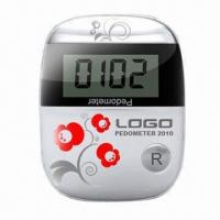 Buy cheap Pedometer with 1.5V DC Power Source and Built-in Belt Clip, Measures 52 x 4 x 1.4cm from wholesalers