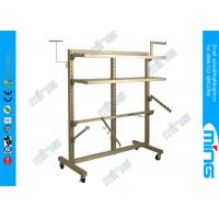 Buy cheap Heavy Duty Metal Clothes Rack in Chrome , Double Upright Clothing Rack from wholesalers
