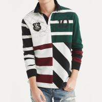 Buy cheap Mens Polo Style Long Sleeve Shirts Embroidered Custom Colors OEM Service from wholesalers
