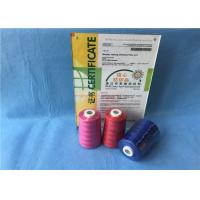 Buy cheap Pink /Red / Blue Polyester Sewing Thread On Plastic Dyed Cone For Textile / Garment from wholesalers