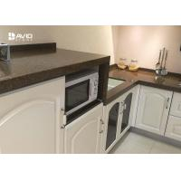 Wholesale Brown Quartz Stone Countertops / Kitchen Worktops Flat Edge 2+2cm Laminated from china suppliers