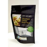 Buy cheap Clear Back Window Custom Printed Zipper Plastic Bags , Zip Closure Pouch For Jerky Packaging from wholesalers