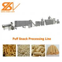 Buy cheap High Efficiency Corn Puff Making Machine Puffed Soybean Snack Machine Processing Line from wholesalers