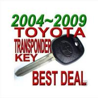 Buy cheap Transponder key for 03 04 05 06 07 08 09 TOYOTA CAMRY TRANSPONDER CHIP KEY from wholesalers