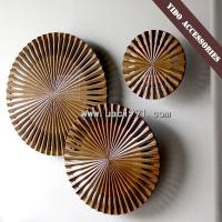 Buy cheap Golden Wood Carving Wall Art Sculpture from wholesalers