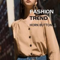 Buy cheap Professional Horn Buttons Custom Vintage Natural 4 Holes High - Grade Shirt & Trench Coat from wholesalers